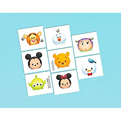 Tattoo favor | Disney© Tsum Tsum Collection | Party Accessory (8- in- 1 pack): Toys & Games