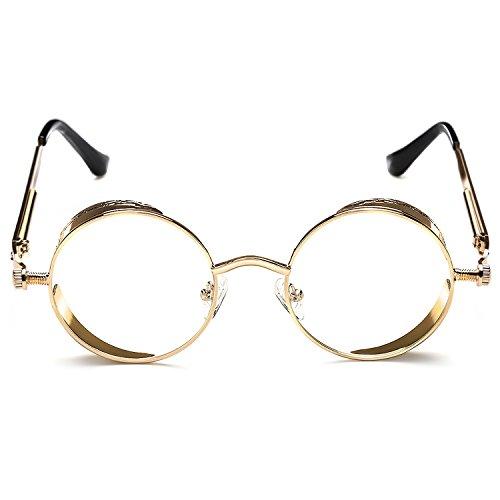 Rocknight Gothic Steampunk Sunglasses For Men Women Hippie Sunglasses Metal Frame Rose - Mens Fashion Hippie