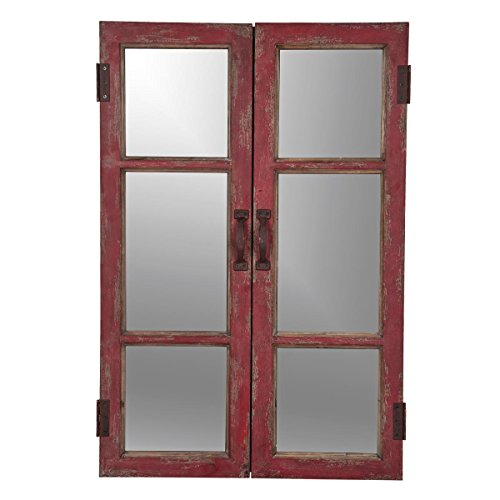 Foreside Home & Garden Foreside Barn Door Mirror from Foreside Home and Garden