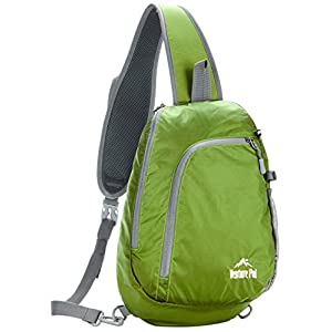 Venture Pal Sling Shoulder Crossbody Bag Lightweight Hiking Outdoor Travel Backpack Daypacks (Green)