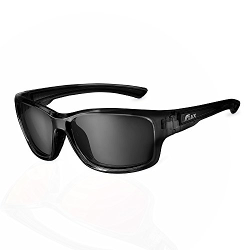 Flux Polarized Sports Sunglasses with Anti-Slip Function and Light Frame - for Men and Women when Driving, Running, Baseball, Golf, Casual Sports and Activities: - For With Heads Sunglasses Small Men