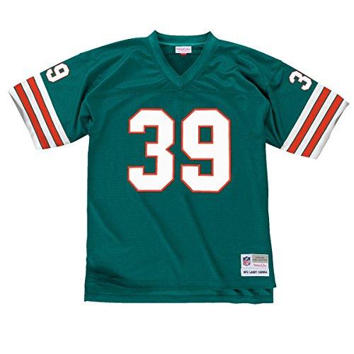Larry Csonka Miami Dolphins Men's NFL Mitchell & Ness Premier Aqua Jersey