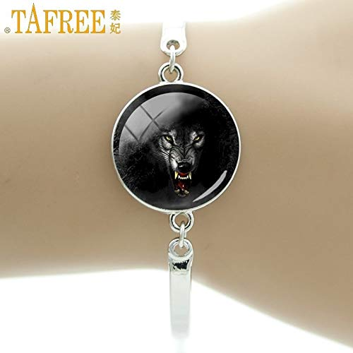 Chain & Link Bracelets - Fashion Trendy Horror Evil Tiger Art Picture Personality Bracelet Glass Dome Unisex Jewelry FQ700 - by Mct12-1 PCs]()