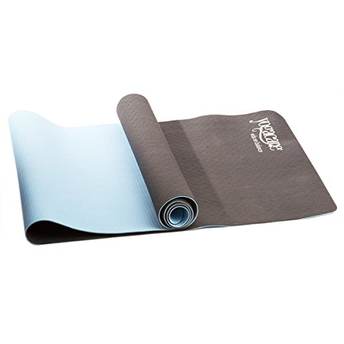 YogaCare 3mm 100% Biodegradable Reversible Odorless Non-Slip Yoga Mat Duo with Carrying Strap