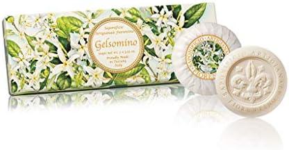 Gelsomino, Jabón vegetal redondo con aroma de jazmín, pack regalo de 3 jabones de 100 g, italiano hecho a mano de Fiorentino: Amazon.es: Belleza