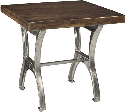 nature Design - Dresbane Casual Rectangular End Table - Warm Brown (Cast Iron Rectangular Table)