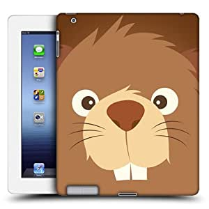 Head Case Designs Beaver Cartoon Animal Faces Protective Snap-on Hard Back Case Cover for iPad 3 iPad with Retina Display