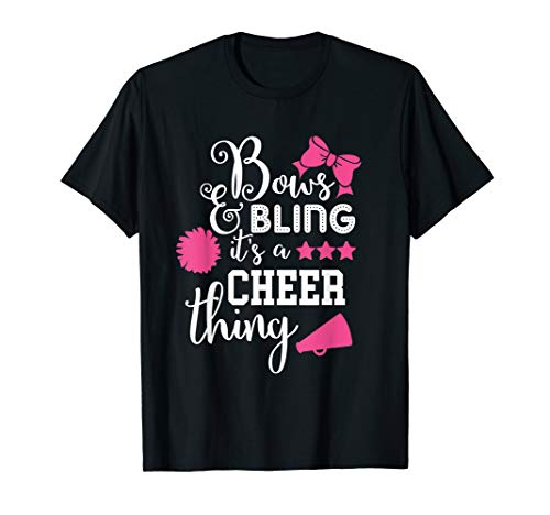 Bows & Bling It's A Cheer Thing Cheerleading T-Shirt from Competitive & Youth Cheer Mom Gear