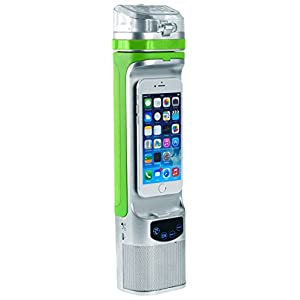 Next Bottle NBC1.2SGR 10 oz All-in-One Bluetooth Freezable Gel Water Bottle, Silver/Green, One Size