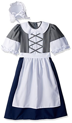 RG Costumes Colonial Peasant Girl, Child Small/Size -