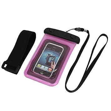 eDealMax Bolso seco impermeable Bajo el agua cubierta de la caja de Color rosa Para el