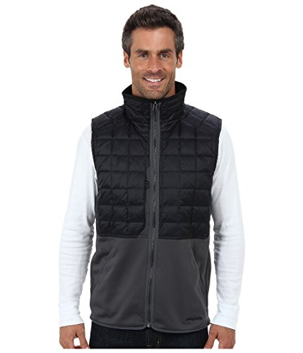 Patagonia Men's Hybrid Down Vest, Forge Grey, XL
