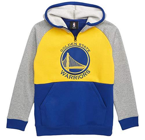 Outerstuff NBA Youth Team Color Regulator Pullover Fleece Sweatshirt Hoodie (Large 14/16, Golden State ()