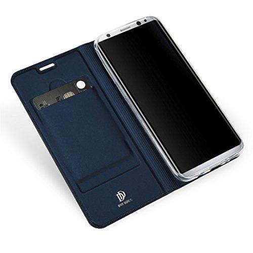 Wrcibo Samsung Galaxy S8 Plus cáscara protectora, PU Cuero Case Billetera Cartera , Funda Flip de Caso Monedero para Samsung Galaxy S8 Plus Smartphone (Azul)
