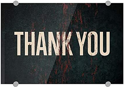 Ghost Aged Rust Premium Acrylic Sign CGSignLab 18x12 5-Pack Thank You