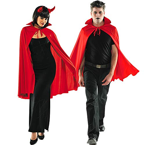 AMSCAN Red Cape Deluxe Halloween Costume Accessories for Adults, One Size -