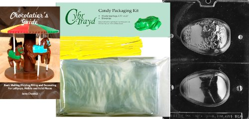 Cybrtrayd Medium 3D Egg with Chick Easter Chocolate Candy Mo