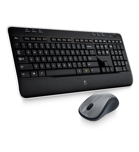 Logitech MK520 Wireless Keyboard and Mouse Combo — Keyboard and Mouse, Long Battery Life, Secure 2.4GHz (Usb Device Windows Vista)