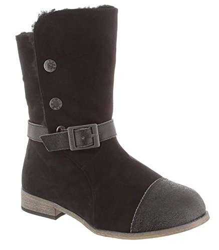 Fashion Noir Distressed Trisha mode Bearpaw Black fwBUgx