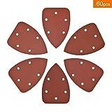 60 PCS Sanderpaper Sanding Pads for Mouse Sander Assorted 180 240 320 400 600 800 Grits by V-story