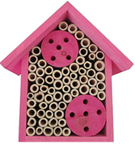 Mason Bee House - Bamboo Tube Bee Hotel for Solitary Bees - Attract More Pollinating Bees to Your Garden by Providing Them with a Bee Home Made from FSC Certified Wood