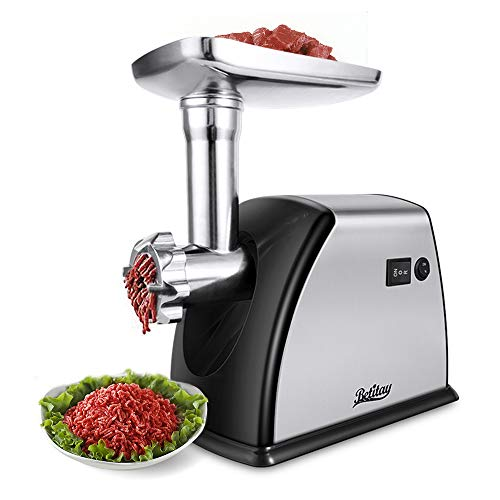 Betitay Electric Meat Grinder 1800W Max,Stainless Steel Meat Mincer,Sausage & Kubbe Kit Included 3 Grinding Plates and Blade for Home and Commercial Use