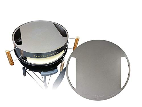 Made in USA KettlePizza Stainless Baking Steel - Steel Skillet/Lid for 22.5