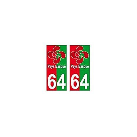 64 Lauburu Croce Basca Sfondo Rosso Verde Adesivo Targa Amazonit