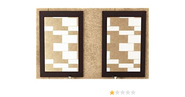 Set Of 2 Bathroom Mirrors With Solid Wood Trim In Espresso Faucet