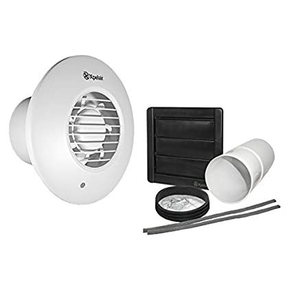 Xpelair Simply Silent DX100 with Wall Kit (300mm Telescopic Duct and External Grille) - Timer Round by Xpelair - - Amazon.com