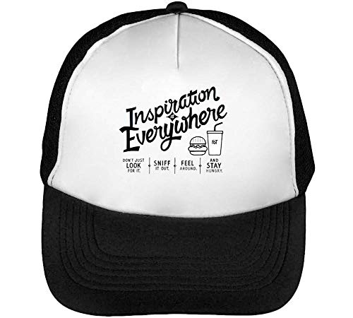 Inspiration Everywhere Gorras Hombre Snapback Beisbol Negro Blanco