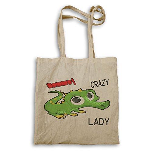 Verrückte Krokodil-Dame Tragetasche u326r