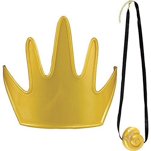 SUIT YOURSELF The Little Mermaid Ursula Costume Accessory Supplies for Adults, One Size, Include Gold Crown and Necklace