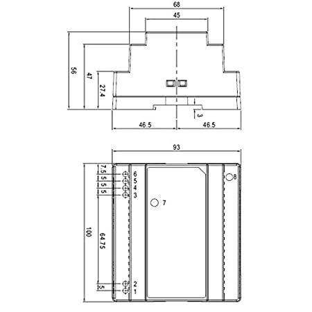 DR-100-12 Din-Rail Fuente de alimentaci/ón 90W 12V 7,5A ; MeanWell