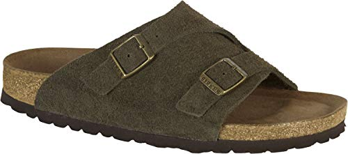 Birkenstock Zürich Soft-Footbed Womens Slides Green EU 39 - US L8 M6