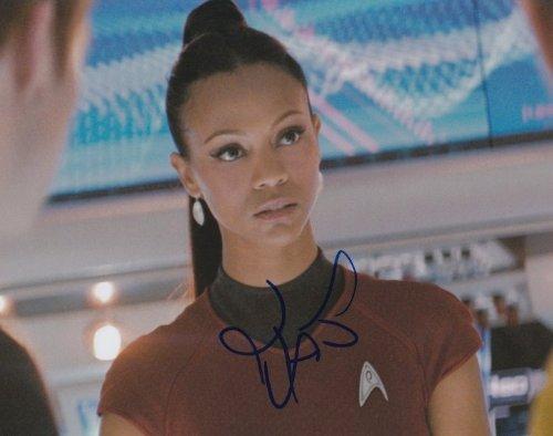 Zoe Saldana Star Trek Signed 8x10 Photo At Amazon S