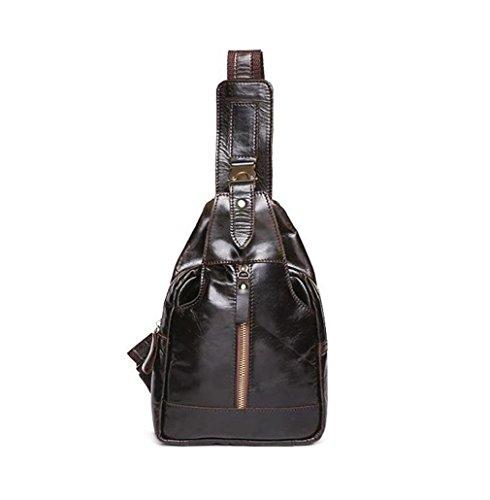 Shoulder Casual Bag Bag Sling Bag leather body breast Bag sport Messenger Bag Cross C Men's messenger Bag casual Bag men's 6Eptq