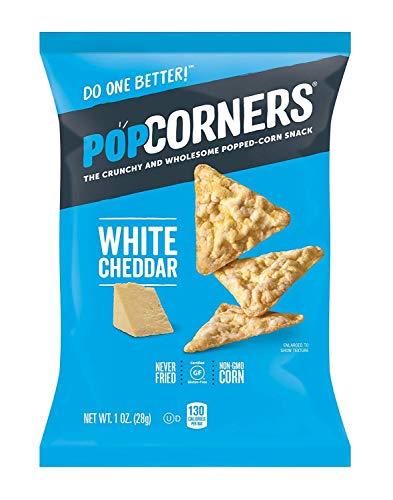 Popcorners White Cheddar Feel Good, Gluten-Free Snack, 1oz Bag (Pack of 12, Total of 12 Oz)