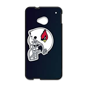 NCCCM Arizona Cardinals hood hat New Phone Case for HTC ONE M7 Black by Maris's Diaryby Maris's Diary