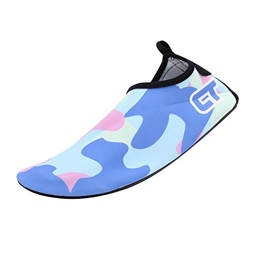 Eagsouni Unisex Barefoot Skin Water Shoes Aqua Socks for Beach Dive Surf Swim Yoga Blue DO7gxy