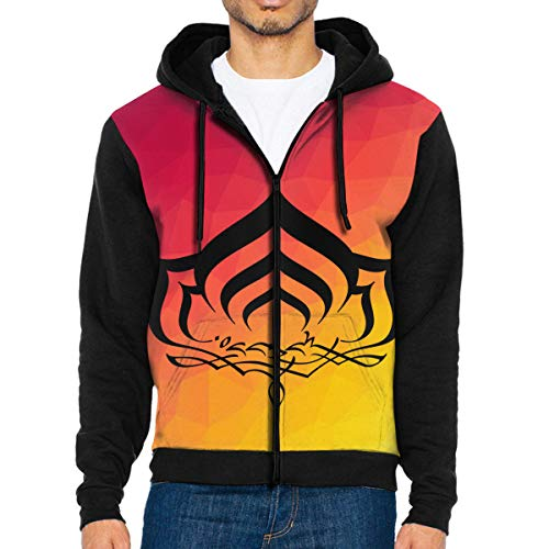 2ee6eea1bdc Amazon.com  Men s Warframe Novelty Zipper Pullover Hoodie Sweatshirt with  Pockets  Clothing