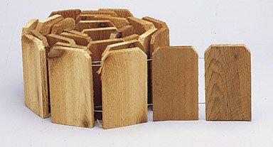 "DEFLECTO RC41 6 by 10"" Cedar Lawn Edging"