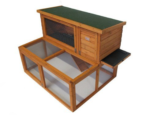 Bunny Business Käfig / Hütte mit Laufplanke für Kaninchen / Meerschweinchen, 122cm