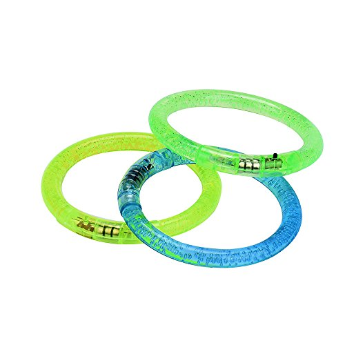 Malltop Crystal Flash Acrylic Luminous Bracelet Hand Light Ring for Children Party Toys