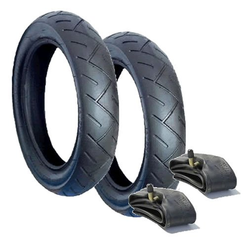 Set of 2 Maxi Cosi Mura Front Tyres /& Inner Tubes