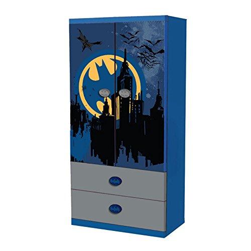 "O'Kids 0116004 Batman Wardrobe, 63"" Height, 16.25"" Wide, 31.25"" Length, Multicolor"