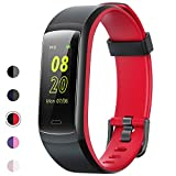 YAMAY Fitness Tracker, Fitness Watch Heart Rate Monitor Activity Tracker,Color Screen Dual-Color Bands