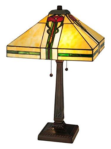Meyda Tiffany 138117 Parker Poppy Table Lamp, 23