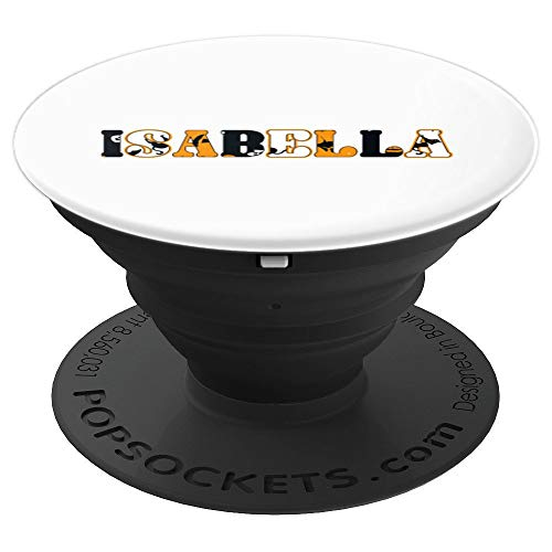 Isabella Spooky Name Halloween PopSockets Grip and Stand for Phones and Tablets -