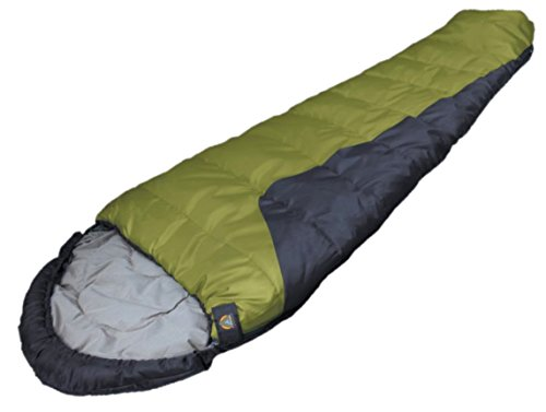 High Peak Alpinizmo TR 0 F Mummy sleeping bag for adults, camping, traveling, hiking and backpacking with free stuff sack -